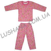 Детская пижама на бейке на рост 80-86 см - Начёс