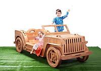 Кровать-автомобиль из натурального дерева
