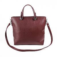Женская классическая сумка бордо