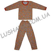 Детская пижама на бейке на рост 110-116 см - Начёс