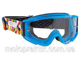 Очки кроссовые (маска) Geon Lykan GN90 blue