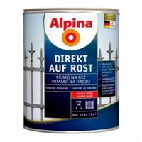 Эмаль алкидная с антикоррозионной защитой Direkt auf Rost RAL3005 0.75л Бордовая Alpina