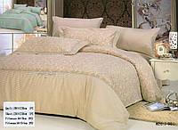 Комплект постельного белья Maison D'or Сатин Люкс Бежевый 200*220
