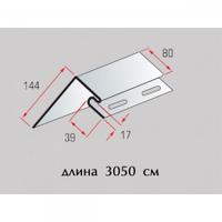 Планка околооконная широкая к соффиту (3,05м) Альта-Профиль белый