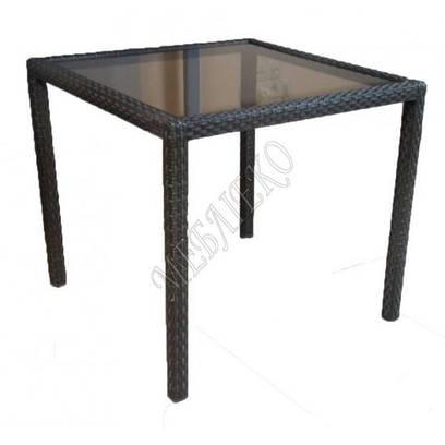 Стол из ротанга со стеклом, Стол  Классик