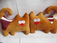 """Игрушка подушка""""Большой рыжий кот сукраинским орнаментом"""""""""""