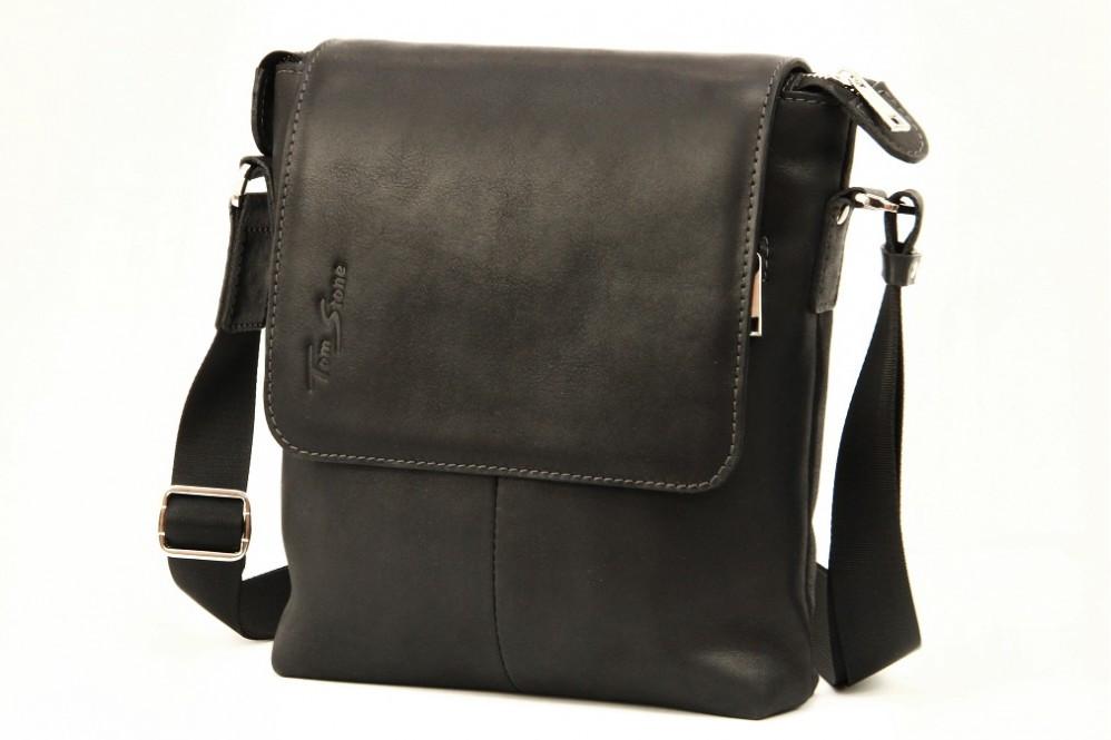 1689f9c803e7 Кожаная мужская сумка Tom Stone - Интернет-магазин