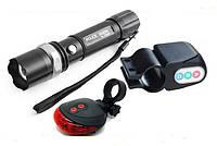 Лазерная дорожка, сигнализация и вело фонарик - комплект 3 в 1. Стильный вело набор. Хорошая цена.  Код: КГ138