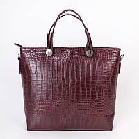 Женская классическая сумка под кожу крокодила