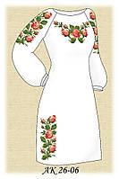 Заготовка женского платья для вышивания АК 26-06 Нежные Розы