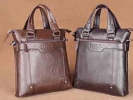 Мужская кожаная сумка-портфель POLO