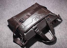 Кожаная мужская сумка-портфель POLO