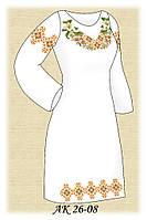 Заготовка женского платья для вышивания АК 26-08 Карпатская Лилия