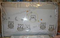 """Бортики (35 см) со съёмными чехлами (на молнии) на  все стороны детской кровати """"Совята"""""""