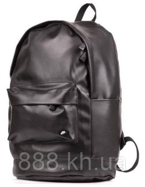 Рюкзак кожаный мужской черный городской рюкзак Nike реплика