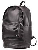 Рюкзак кожаный мужской черный городской рюкзак Nike реплика, фото 1