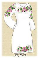 Заготовка женского платья для вышивания АК 26-25 Изящная