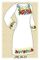 Заготовка женского платья для вышивания АК 26-35 Краски лета