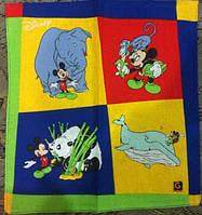 """Платки носовые детские """"Микки Маус с животными"""""""