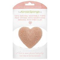 Kohjac Premium Face Heart Sponge-Freuck Pink Clay - Спонж для лица, сердечко (с розовой глиной)