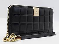 Кошелек женский кожаный на молнии Chanel 60019-A черный, расцветки