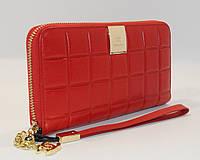 Кошелек женский кожаный на молнии Chanel 60019-B красный, расцветки