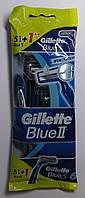 Набор одноразовых бритвенных станков Gillette Blue ІІ (5 шт.) + Gillette Blue3 (1шт) Оригинал, фото 1