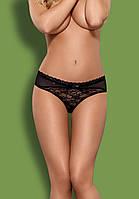 Черные кружевные трусики Obsessive Swanita  panties black