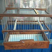 Деревянная клетка для птиц 2