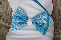 """Трикотажный плед для новорожденных """"Изысканность"""", голубой"""