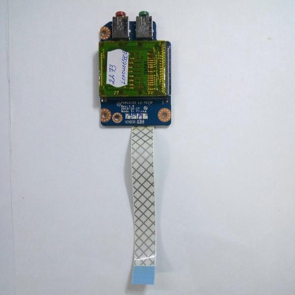 Плата аудио выход, картридер Lenovo G560E (LS-7013P)