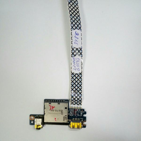 Плата USB, аудио, картридер Lenovo G505S (LS-9901P, NBX0001EG00)