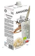 ВЕГА молоко рисовое с кальцием BIO 1 л Amandin