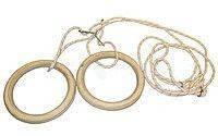 Кольца гимнастические подвесные UR R-4458 (канат-капрон d-10мм, кольцо-фанера d-24см, р-р 28x30мм)