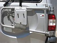 Калитка (крепление запасного колеса) УАЗ Патриот 3163 серебристая