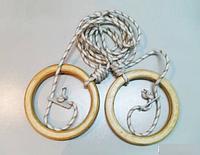 Кольца гимнастические детские (дерево)
