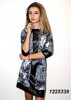 Платье с кожаными вставками  42 44 46 48
