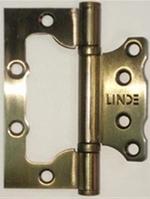 Петли дверные накладные бабочка HB-100 AB