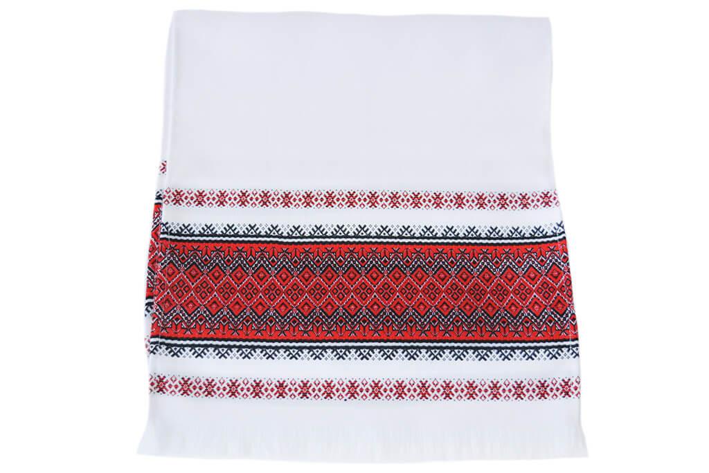 Тканый свадебный рушник «Оранта красный»