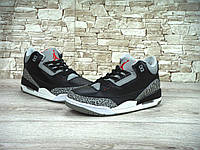 Кроссовки Nike Air Jordan Retro 3 Black Cement 41-45 рр