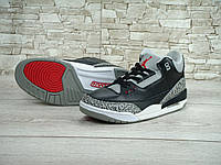 Nike Air Jordan Retro 3 Black Cement (натур. кожа) 41-45 рр