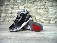 Nike Air Jordan Retro 3 Black Cement (натур. кожа) 41-45 рр