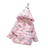 Детская зимняя куртка для девочки - Бабочки