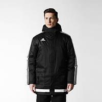 Куртка длинная с капюшоном черная Аdidas TIRO15 Stadium Jacket M64046
