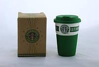 Чашка Starbucks керамический стакан с селиконовой крышкой и чехлом, CUP Стакан  StarBucks 008