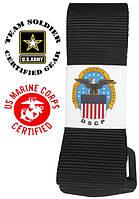 Ремень уставной армии США черный (оригинал) - riggers belt black
