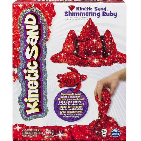 Кинетический песок Kinetic Sand Metallic красный, 454 г «Wacky-Tivities» (71408Rub), фото 2