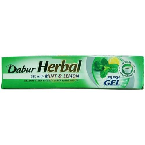 Зубная паста Свежий Гель Dabur Herb'l Mint & Lemon, 60+20 г