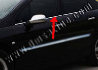 Peugeot 407 2005+ гг. Наружняя окантовка стекол (4 шт, нерж) Carmos - Турецкая сталь