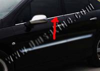 Peugeot 407 2005+ гг. Наружняя окантовка стекол (4 шт, нерж) OmsaLine - Итальянская нержавейка